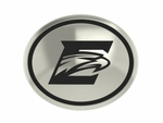 Emory Eagles Silver Round Laser Bead