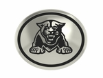 Georgia State University Panthers Silver Round Laser Bead