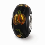 Hand Painted Glass All Hollow's Eve Bead