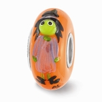 Hand Painted Glass Batina the Witch Bead