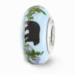 Hand Painted Glass Country Roads Bead