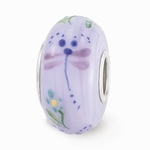 Hand Painted Glass Mischievous Dragonfly Bead
