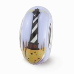 Hand Painted Glass Mystic Lighthouse Bead