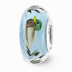 Hand Painted Glass Still Waters Bead Bead