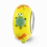 Hand Painted Glass Tilly the Turtle Bead