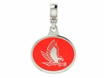 Hartford Hawks Silver Enamel Dangle Charm Bead
