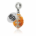Idaho State Bengals Color Football Bead