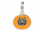 Idaho State Bengals Silver Enamel Dangle Charm Bead