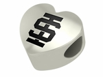 Idaho State Bengals Silver Laser Heart Bead