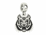 Idaho State Bengals Silver Logo Dangle Bead