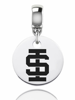 Idaho State Bengals Silver Round Dangle Bead