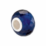 Kera Silver Faceted Sapphire Color Bead
