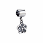 Kera Silver Flower Dangle Bead