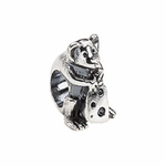 Kera Silver Mouse with Cheese Bead