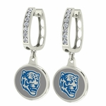 Memphis Tigers Enamel Large CZ Hoop Earrings