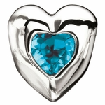 Miss Chamilia December Birthstone CZ  Heart Bead