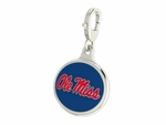 Mississippi Ole Miss Enamel Lobster Claw Charm