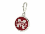 Mississippi State Bulldogs Enamel Lobster Claw Charm