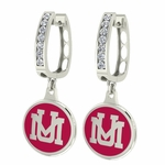 Montana Grizzlies Enamel Large CZ Hoop Earrings