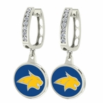 Montana State Bobcats Enamel Large CZ Hoop Earrings