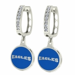 Morehead State Eagles Enamel Large CZ Hoop Earrings