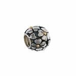Moress Silver 14K Gold Floral Bead