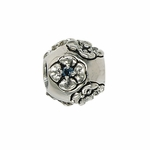 Moress Silver Blue Stone Flower Bead