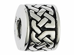 Moress Silver Braided Knot Spacer Bead