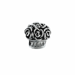 Moress Silver Flowers Bead