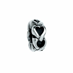 Moress Silver Hearts Spacer Bead