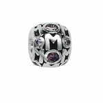 Moress Silver Purple Stone Mom Bead