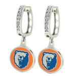 Morgan State Bears Enamel Large CZ Hoop Earrings