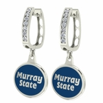 Murray State Racers Enamel Large CZ Hoop Earrings