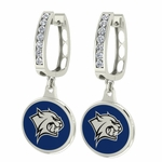 New Hampshire Wildcats Enamel Large CZ Hoop Earrings