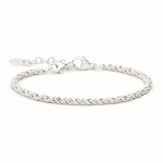 Novo Silver Adjustable Bead Bracelet