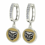 Oakland University Grizzlies Enamel Large CZ Hoop Earrings
