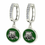 Ohio Bobcats Enamel Large CZ Hoop Earrings