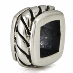 Ohm Silver All Squared Knot Bead