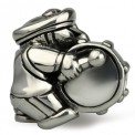 Ohm Silver Base Drum Marching Band Bead