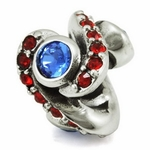 Ohm Silver CZ Forever Trust Bead