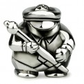 Ohm Silver Drum Major Marching Band Bead
