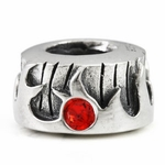 Ohm Silver Fire Elements Bead