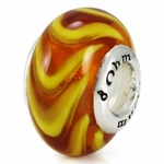Ohm Silver Glass Vacation Bead