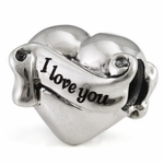 Ohm Silver Love, Family, Friends Beads