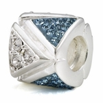Ohm Silver Pave Beads
