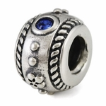 Ohm Silver Spacer Beads