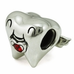 Ohm Silver Tooth Fairy Bead