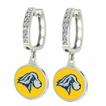 Pace Setters Enamel Large CZ Hoop Earrings