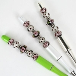 Plum Gardens Bead Pen Set