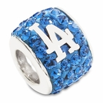 Premier Los Angeles Dodgers MLB Crystal Bead